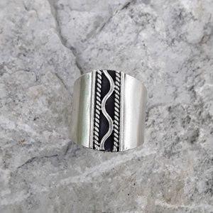 Vtg Unisex Sterling Tribal Ring